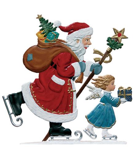 Skating Santa – 3 1/2 x 3 1/2″