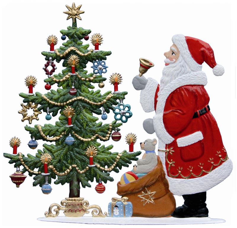 Santa's  Here! – 4 1/4 x 4″