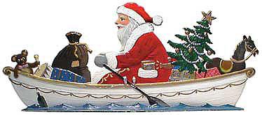 Rowing Santa – 5 1/2 x 2 1/2″