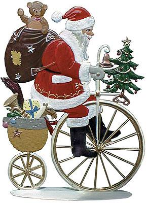 Peddling Santa – 3 1/4 x 4 1/2″