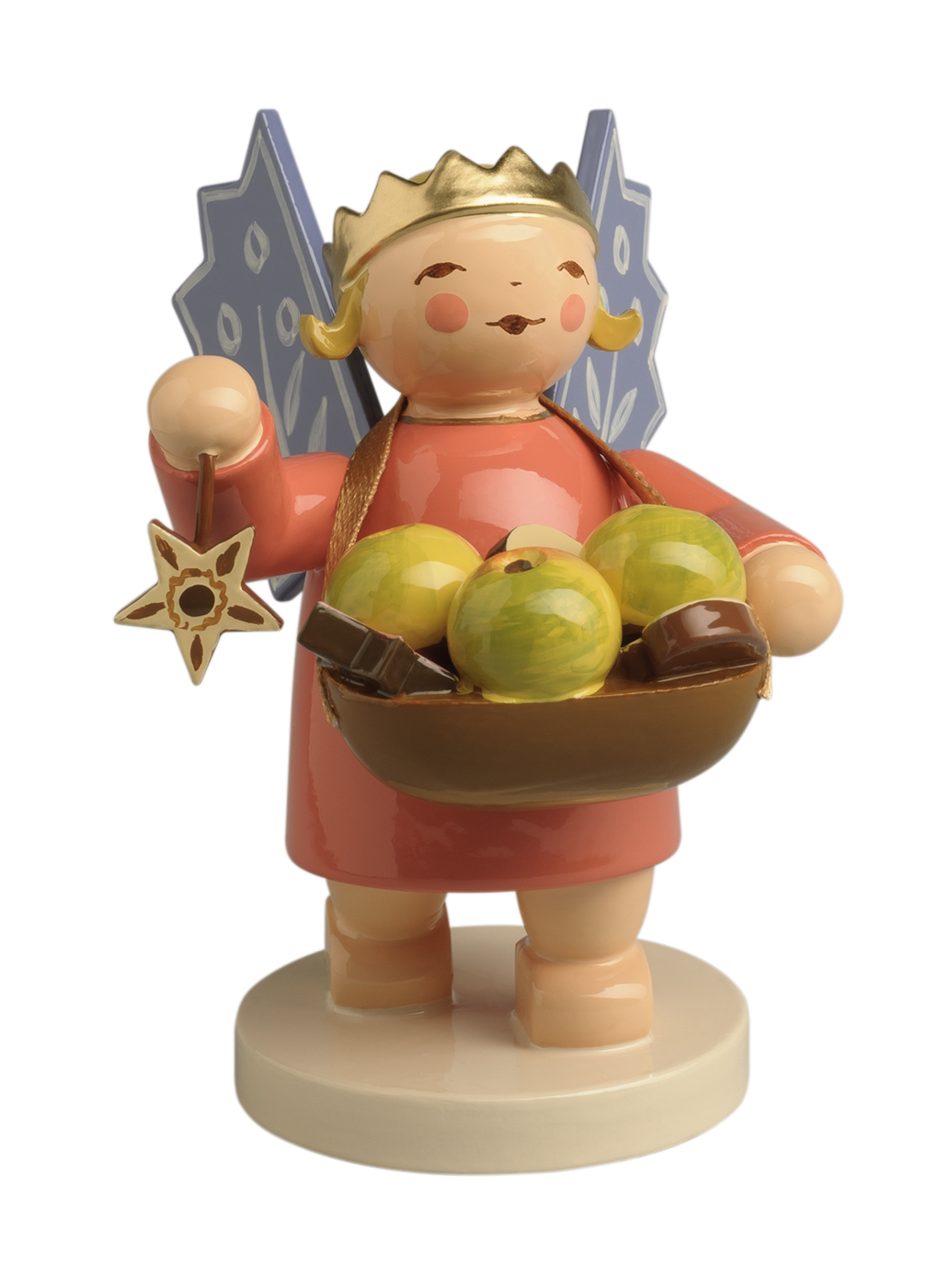 Angel Wearing Crown, with Basket – 2.5″