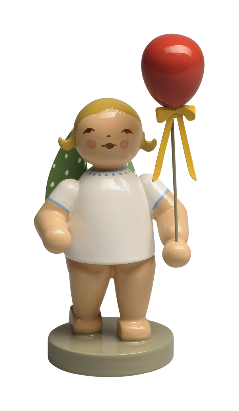 Angel with Red Balloon, Blond – 3.0″