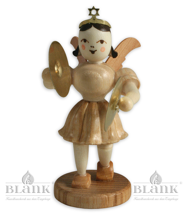 Pleated Skirt Angel with Cymbals – 3″
