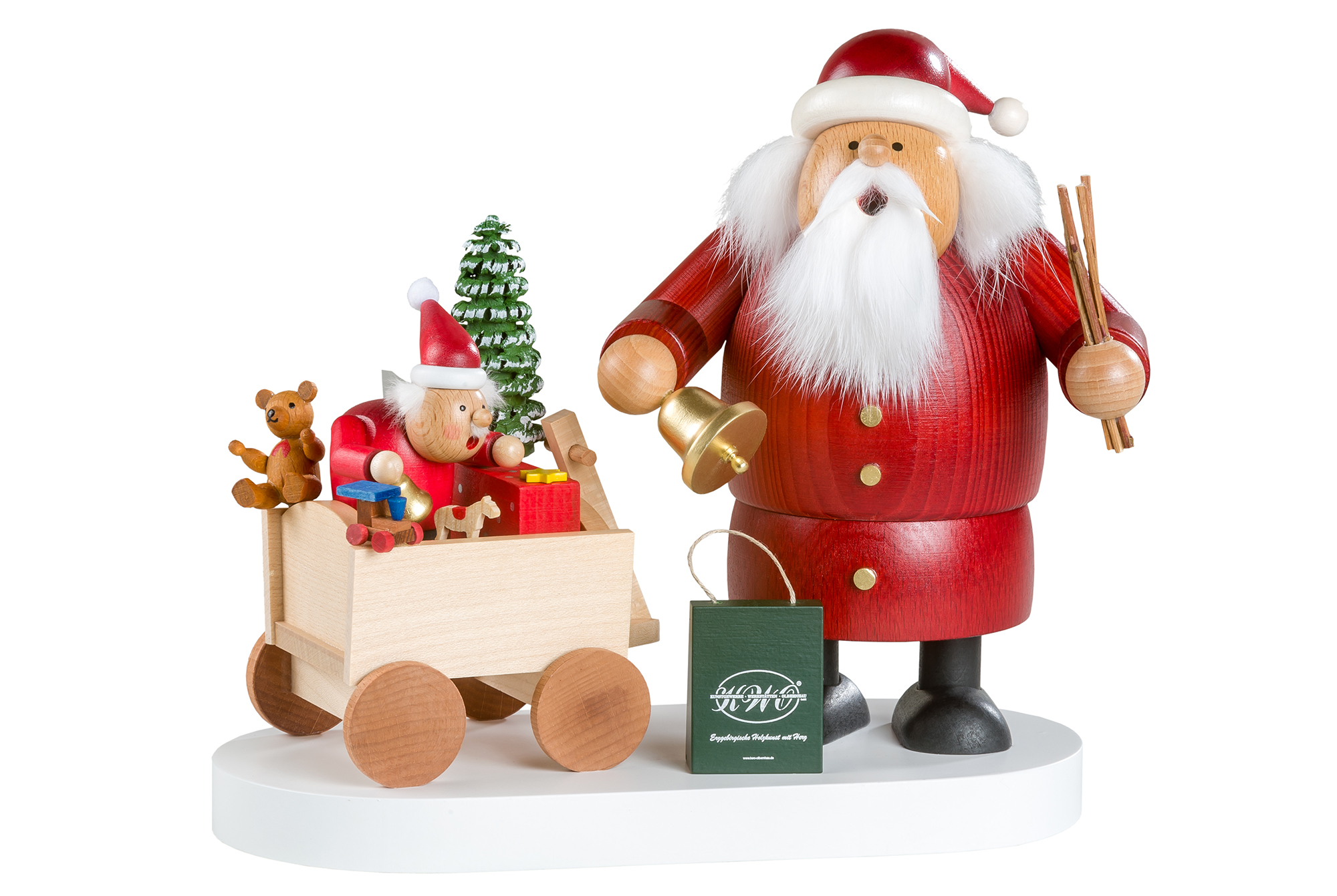 Santa Claus Smoker with Little One – 8″
