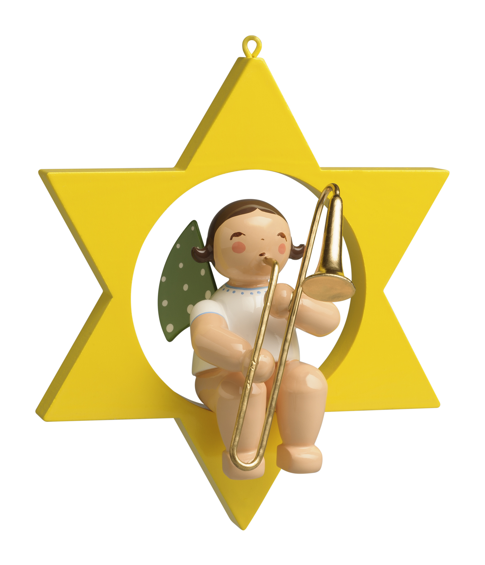 Angel with Trombone, in Star – 3.5″