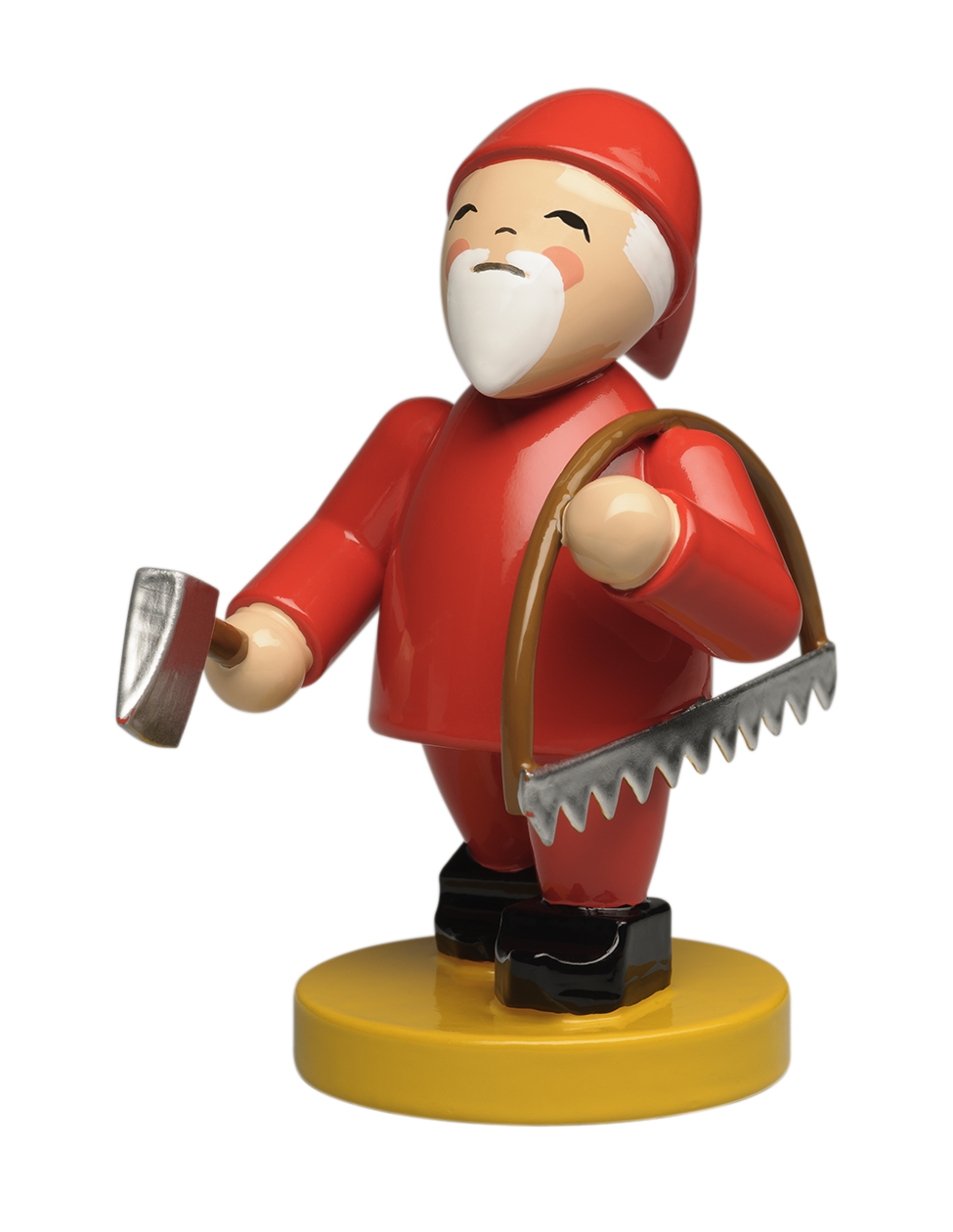 Gnome with Bow Saw and Axe – 2.25″