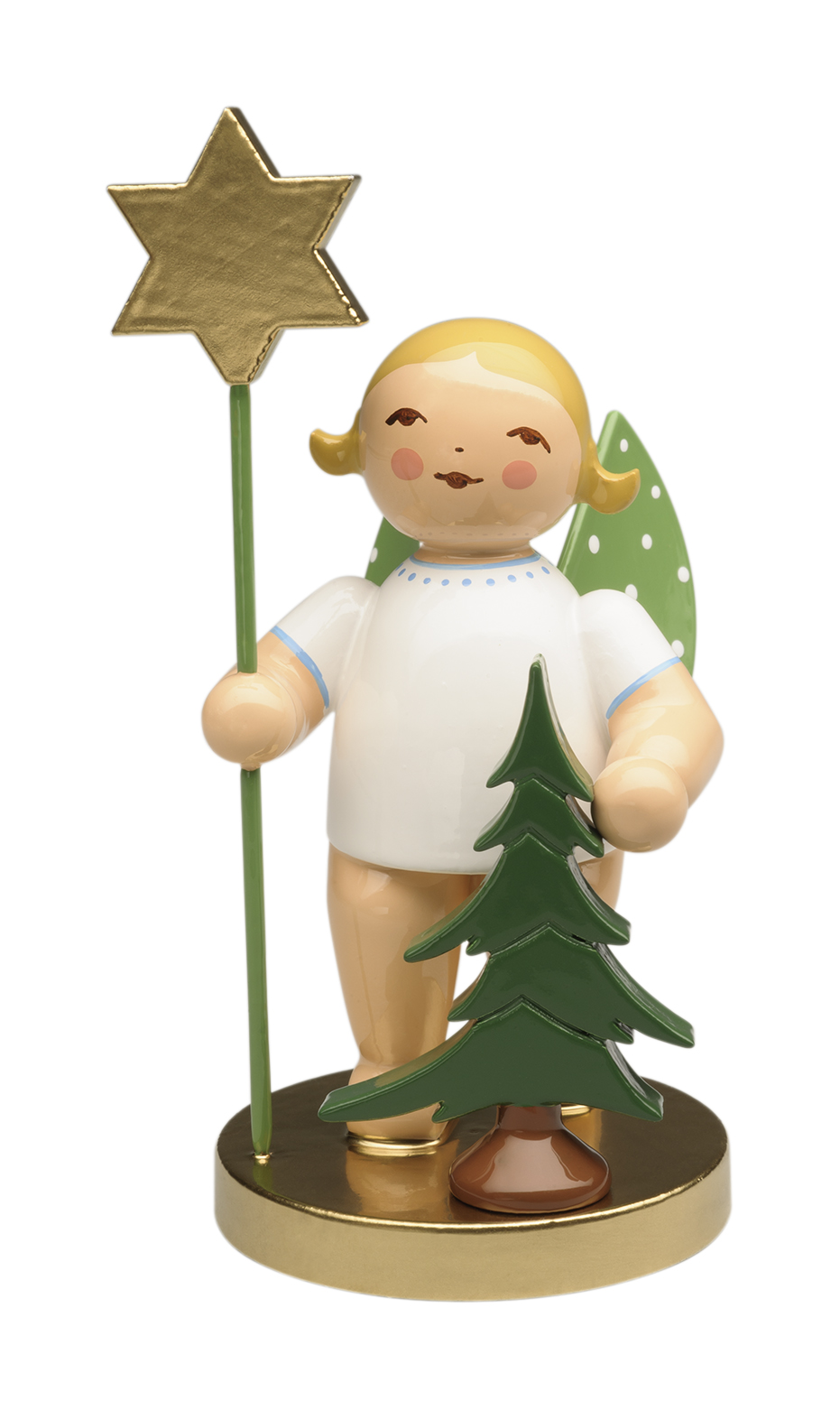 105th Anniversary Angel w/Spruce & Star–ONLY this yr.–Blond-3.0″