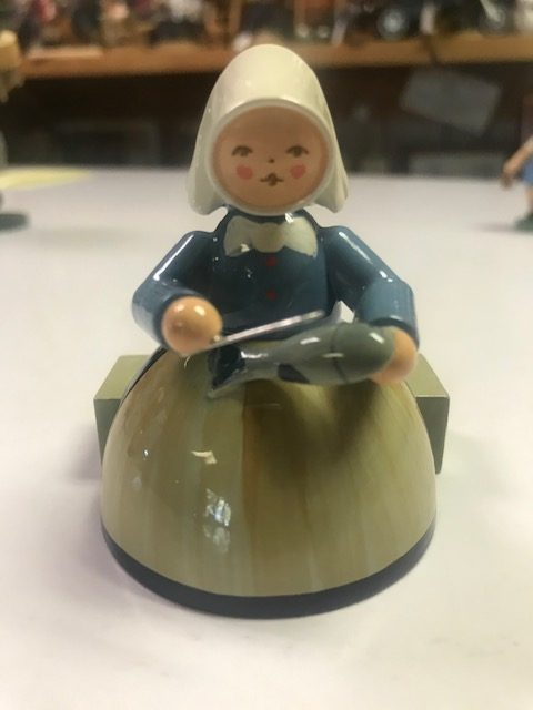 Fisherwoman (Only One Left from Set of Four) – 3″