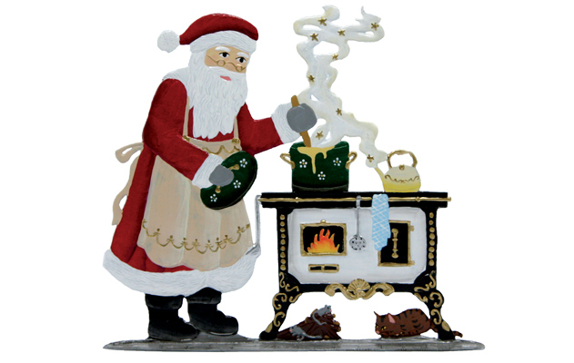In the Kitchen With Santa – 3 3/4 x 4.0″