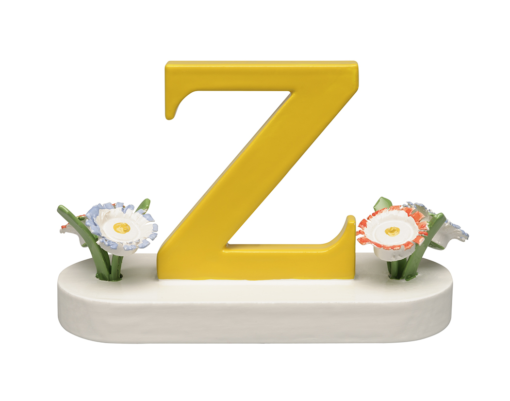 Letter Z, with Flowers – 1.25″